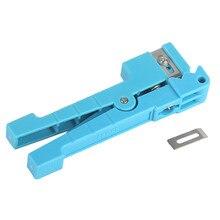 45-163 alicate de descascador de fio ferramentas de corte multifuncional fibra óptica prático cabo coaxial tubo solto talhadeira manual