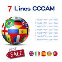 CCCAM ESPA EEN Cline voor 1 año Europa 7 Clines Oscam Stabiele Cccam Server HD Ccam Spanje Portugal Duitsland Polen receptor Sa