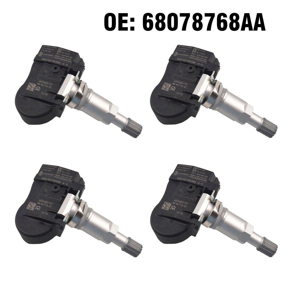4 pièces voiture TPMS capteur de surveillance de la pression des pneus 68078768AA 56053031AD pour Chrysler 300 Sebring Dodge Jeep boussole