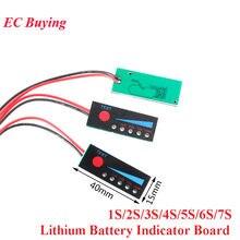 1s 2s 3s 4S 5S 6s 7s 4.2v-29.4v bateria de lítio li-po li-ion indicador de capacidade placa de exibição de energia carga de carregamento led testador