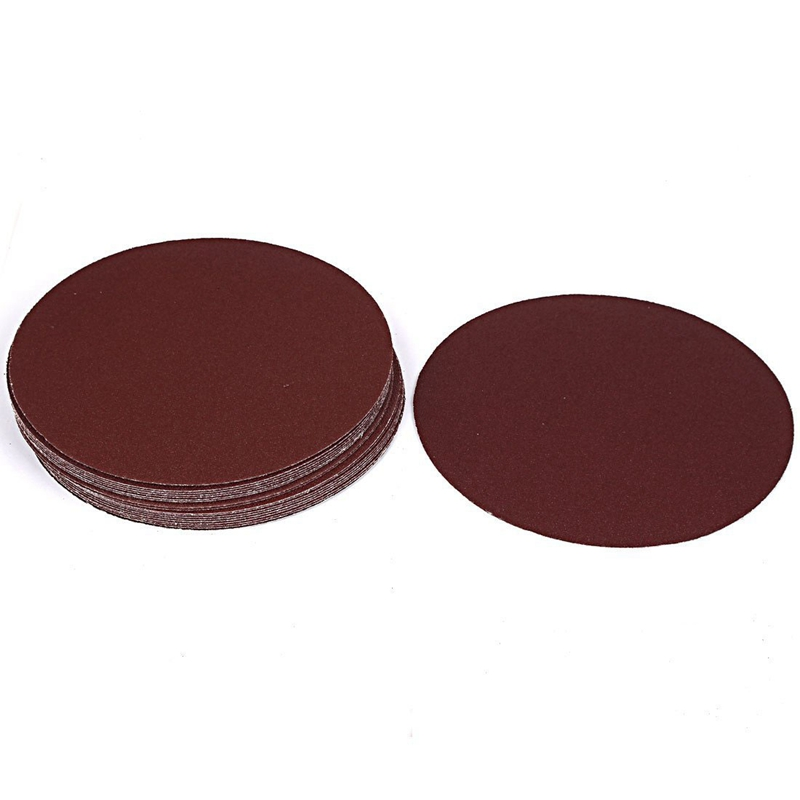 Grinding Polishing Hook And Loop Sanding Disc Sandpaper 80 Grit 7 Inch Dia 20pcs