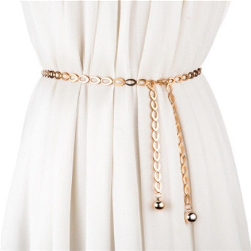 High Waist Gold Silver Belts For Women Fashion Waistbands All-match Belt For Party Jewelry Dress Waist Metal Chain Belts
