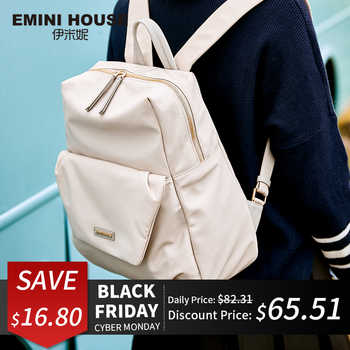 EMINI HOUSE Nylon Laptop Backpack Women School Bag Fashion Travel Backpack Zipper Shoulder Bags Roomy Backpacks For Teenage Girl - Category 🛒 Luggage & Bags