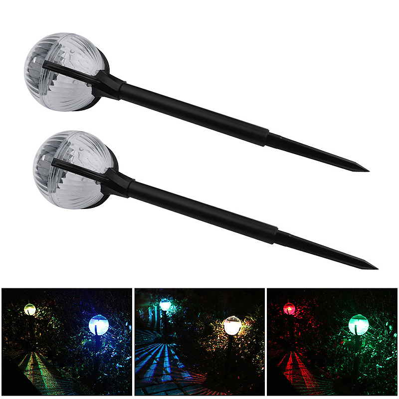 2 Pcs LED Light Landscape Pathway Light Outdoor Solar Globe Light Stakes For Garden Landscape Path Yard Patio Walkway New