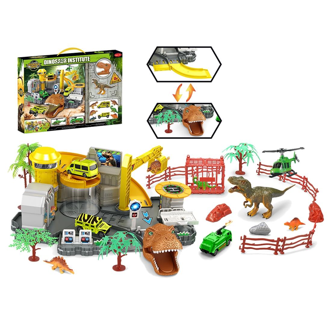 2 в 1 складной ящик для хранения динозавров сцена Ползания коврик Имитация Динозавра модель обучающая игрушка Рождественский подарок для де... - 1