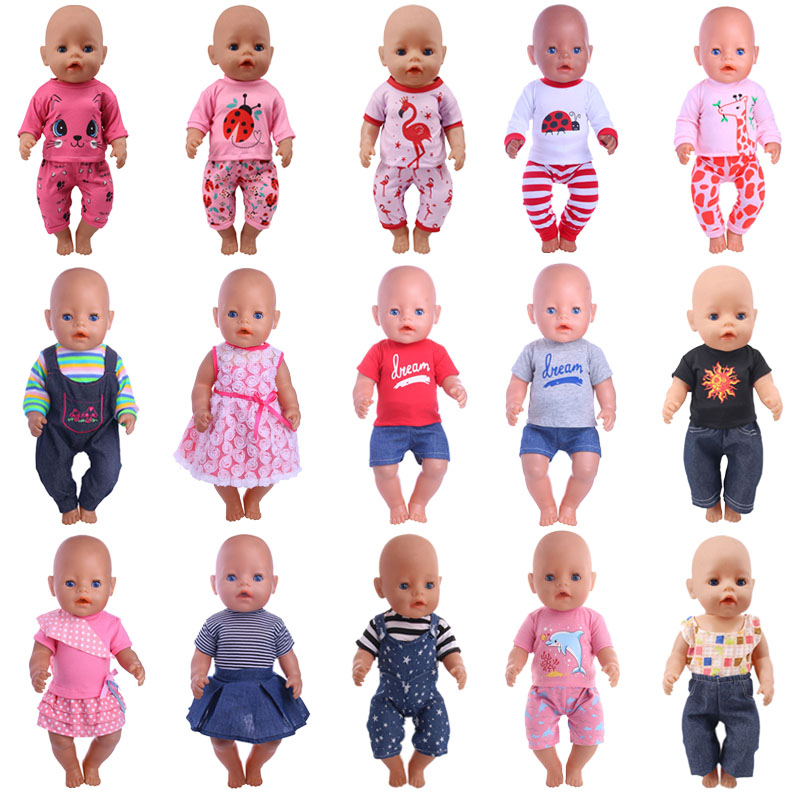15 Styles Cat Beetle Animal Patterns Doll Clothes For 18 Inch American&43 Cm Born Baby Our Generation Christmas Girl's Toy Gift