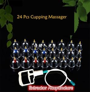 Image 2 - 24Pcs Lattine di Monitor di Salute di Massaggio Terapia Coppettazione Cinese Lattine Opener Pull Vacuum Coppettazione massaggio Tazze Banche Carro Armato di Cura Set strumento