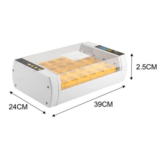 Fast Shipping Practical 24 Eggs Large Capacity Mini Incubator For Chicken Poultry Quail Eggs Home Use Automatic Egg Turning 6