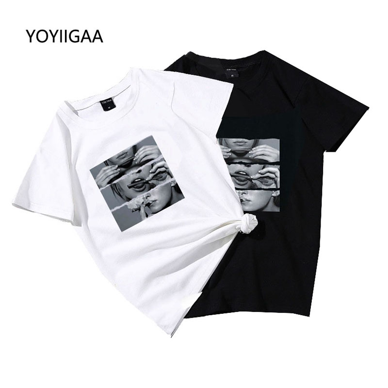Basic Women T-shirt Summer Short Sleeve Female TShirt Tops Harajuku Lady Yong Girl Shirts Tees Tops O-neck Women's T-shirts