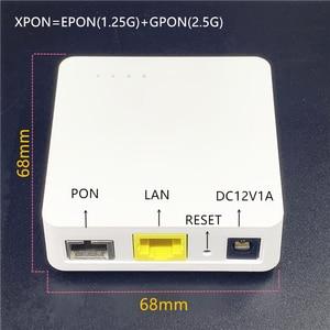 Image 1 - מיני 10 pcs ONU אנגלית 68MM XPON EPON1.25G/GPON2.5G G/EPON ONU FTTH מודם G/EPON תואם נתב אנגלית ONU MINI68 * 68MM