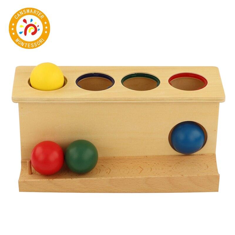 Montessori matériel Push jouets bébé jouet aides pédagogiques jouet préscolaire coloré savoir couleur enfants jouet