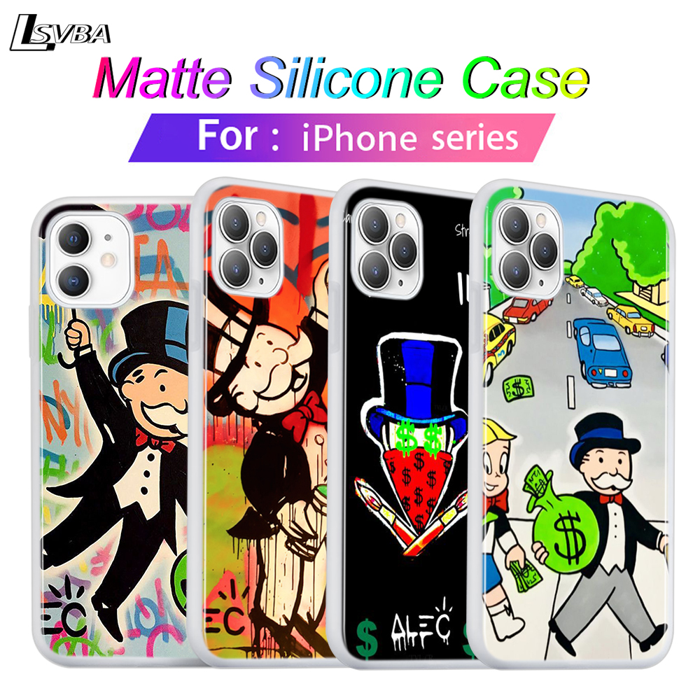 Silicone Cover For iPhone 11 Pro Max Soft Shell Cartoon <font><b>Dollar</b></font> Monopoly for iPhone XS Max XR X 8 7 6S 6 Plus 5S <font><b>Phone</b></font> Case image