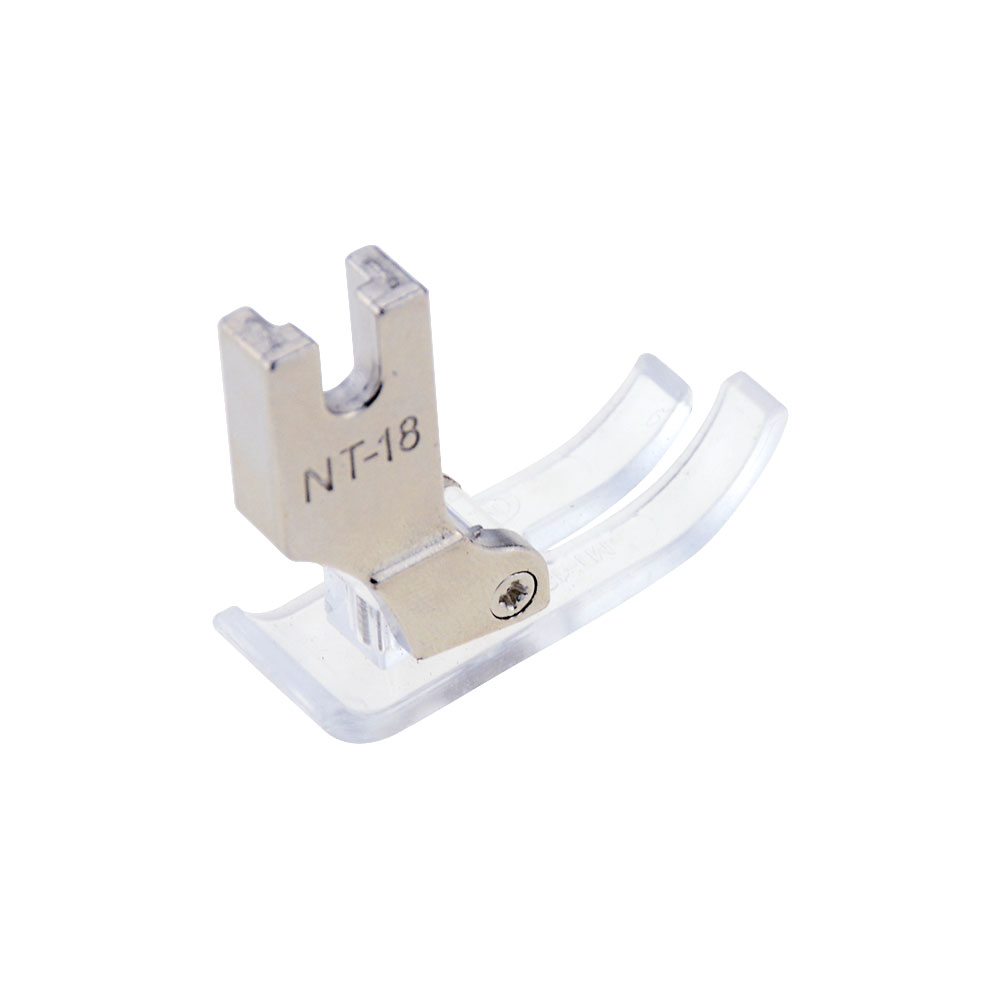 1 Piece NT-18 Plastic Transparent Presser Foot Flat Car Plastic Presser Foot Industrial Sewing Machine Presser Foot Flat Car Pre