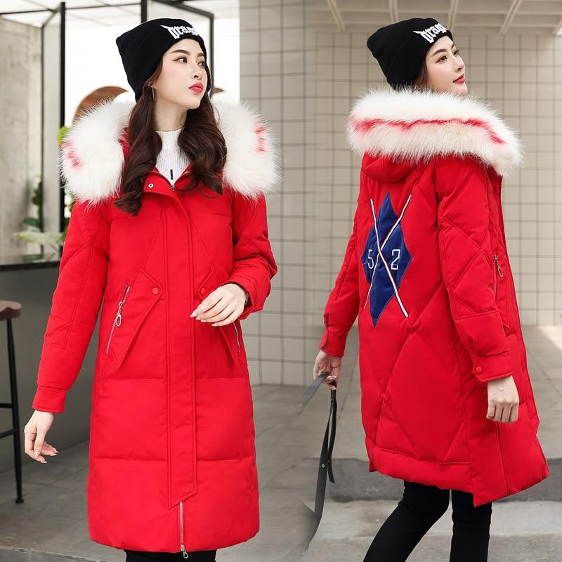 Photo Shoot South Korea Dongdaemun Slim Fit Down Jacket Cotton-padded Clothes Women's 2019 New Style Winter Mid-length Waist Hug