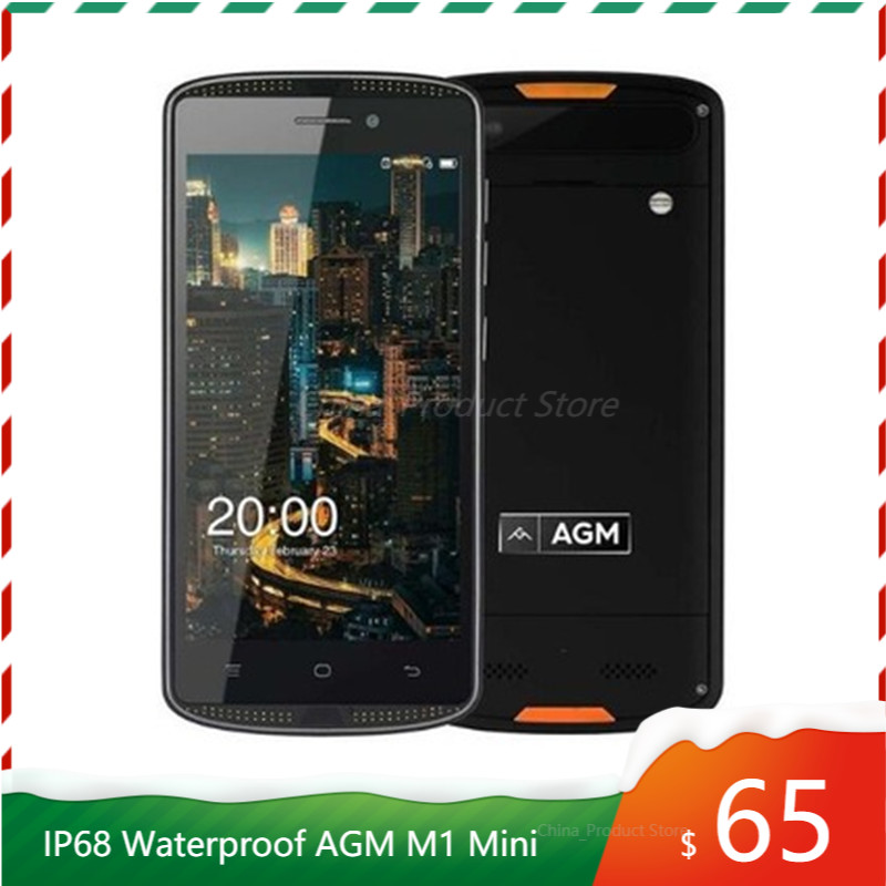 AGM X1 Mini, 4G, LTE, смартфон, 4000 мА/ч, IP68 Водонепроницаемый противоударный Android 6,0 5,0