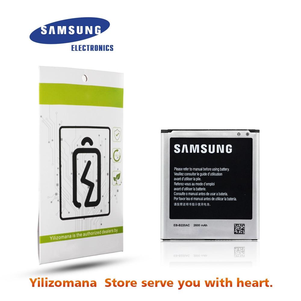 Bateria Original Para SAMSUNG G7106 EB-B220AC 2600mAh Para Samsung Galaxy Grand 2 G7108 G7108V SM-G7102 Bateria Do Telefone de Substituição