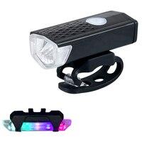 Luce per bicicletta luce anteriore per bici ricarica USB luce Super luminosa attrezzatura per Mountain Bike Set fanale posteriore impermeabile LED avviso L