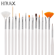 Nail Brush for Manicure Gel Art 15 Pieces / Set Ombre Gradient Polish Painting Drawing