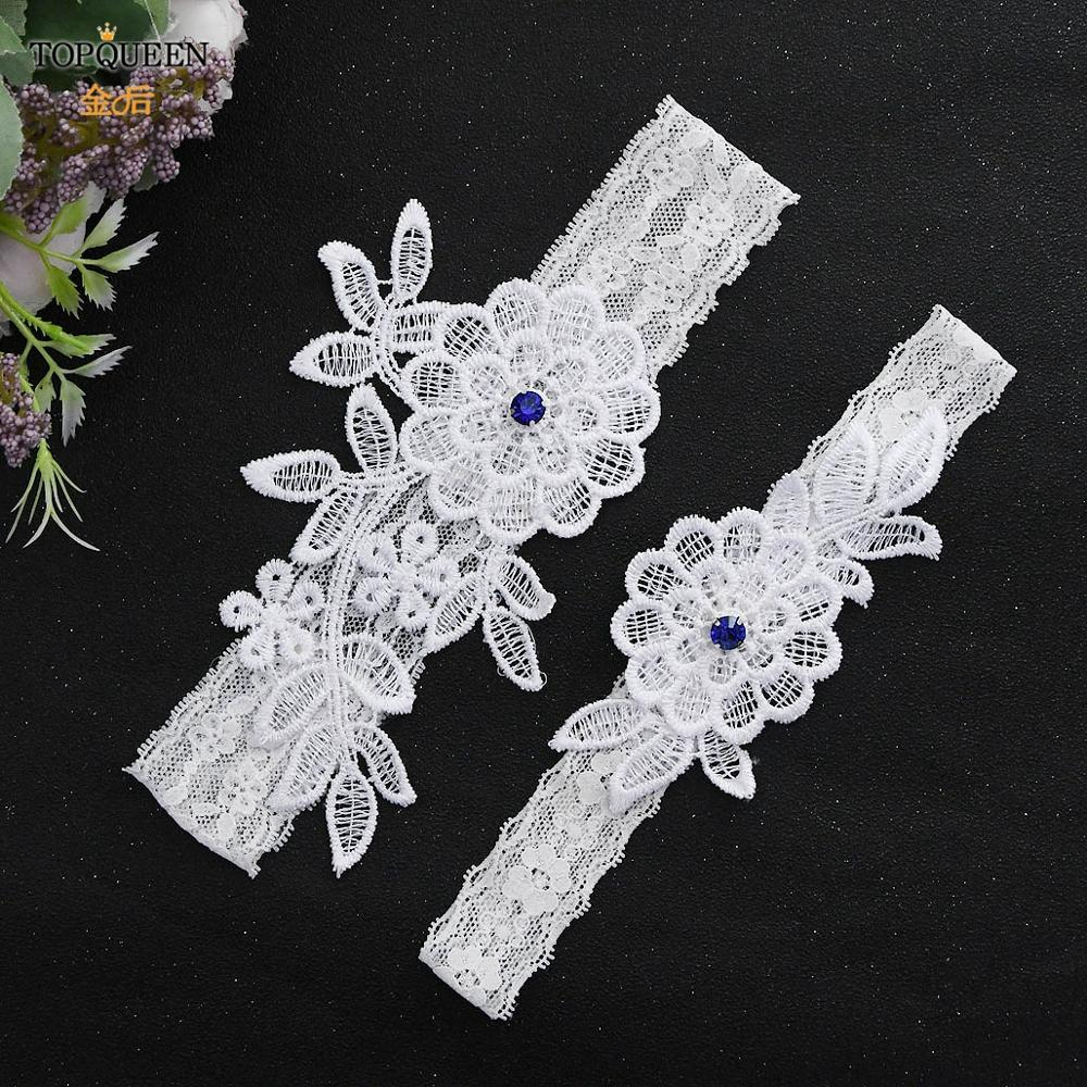 TOPQUEEN TH42 43 Whosesale Bridal Garter Set Lace Belt Legs Ring Fashion Sexy Women Girl Lace Floral  Fashion Stocking Ring