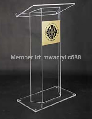 Free Shipping Beautiful Easy Cheap Detachable Acrylic Podium Pulpit Lectern