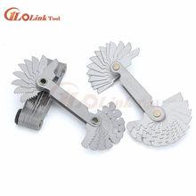 60 e 55 graus parafuso calibre de rosca metal dobrável ferramenta medição métrica & whitworth passo 20 lâminas ferramenta medição
