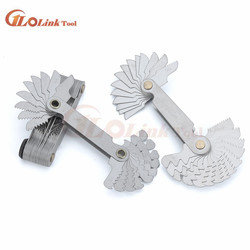 60 and 55 Degree Thread Measuring Gage Gauge Stainless Steel Metric Whitworth Screw Pitch Thread Plug Gage