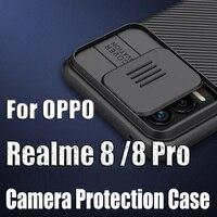 NILLKIN-funda protectora de cámara para OPPO Realme 8 Pro, carcasa deslizante de privacidad teléfono para OPPO Realme 8