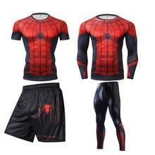 Комплект для бокса, компрессионная футболка и штаны с 3D рисунком, бриллиантовая футболка для кикбоксинга, муай тай, ММА, боевая одежда, спорт...