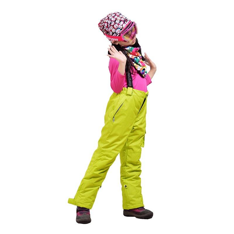 Лыжные брюки, зимние Утепленные штаны для мальчиков и девочек, ветрозащитные водонепроницаемые теплые уличные спортивные штаны для снежно...