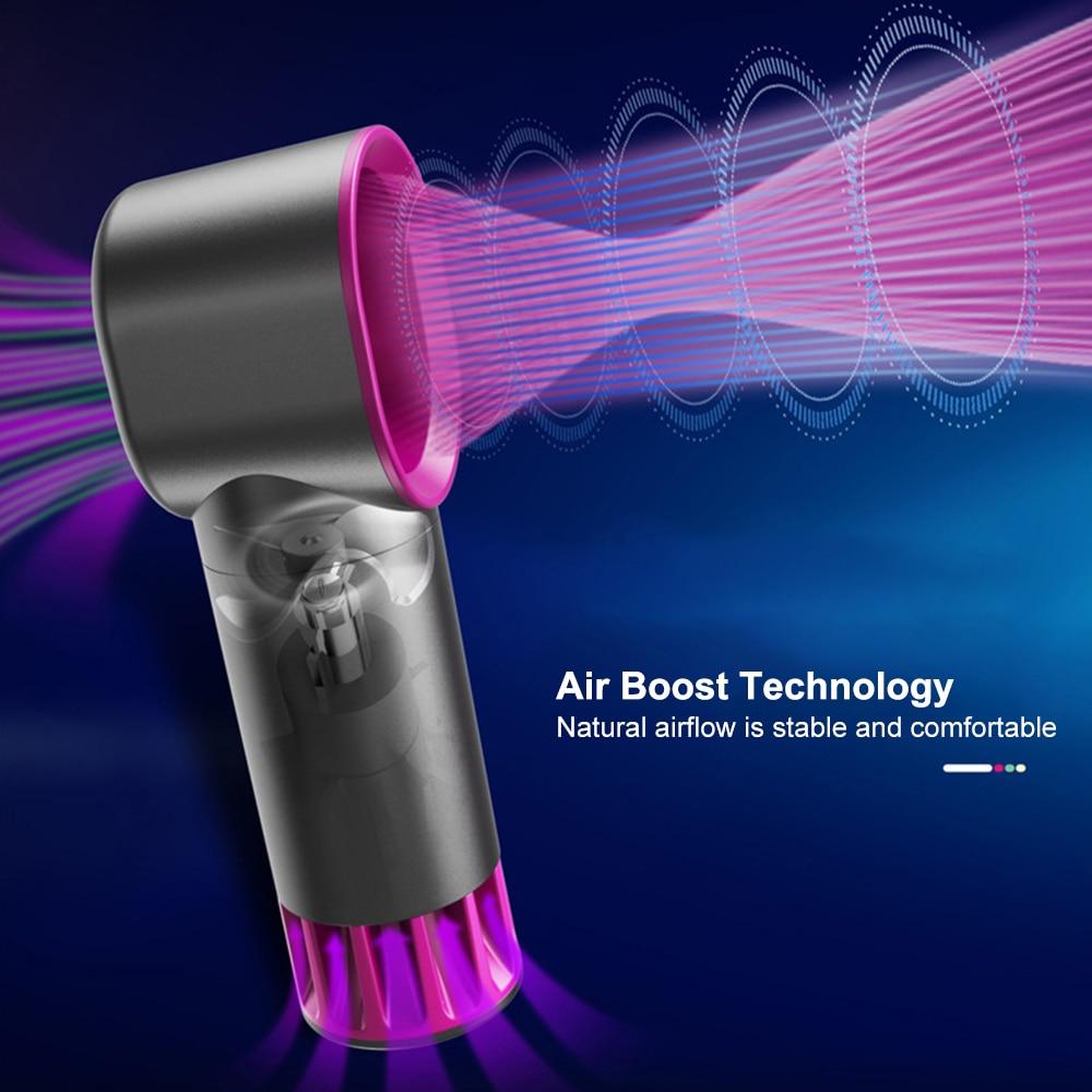 New Electric Bladeless Fan Portable Cordless Usb Charging Mini Handheld Fan Handheld Mini Cooler No Leaf Handy Fan