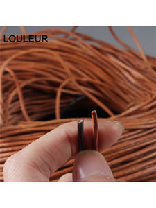String-Rope Cord Thong Bracelet Diy Diy Necklace Jewelry-Making-Dia Round 100%Genuine-Leather