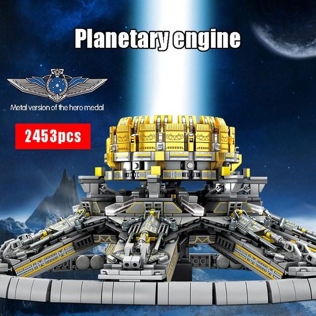 SEMBO 2453Pcs City Technic Series Building Blocks Military Wandering Earth Planetary Engine Bricks Toys for Children