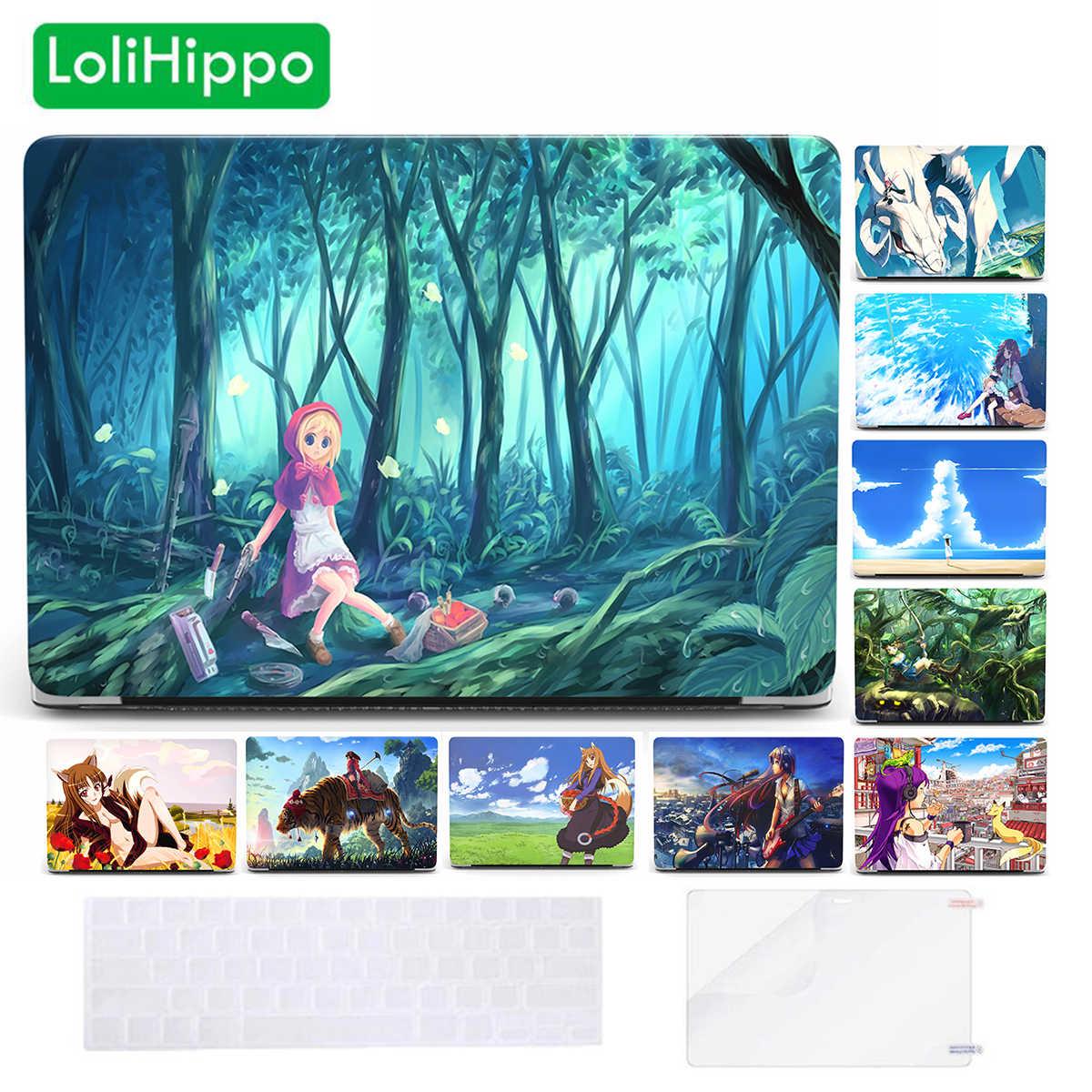 LoliHippo japonais Anime ordinateur portable étui pour macbook Air Pro 12 13.3 15 pouces Retina A1466 A1932 dessin animé couverture de coque pour ordinateur portable