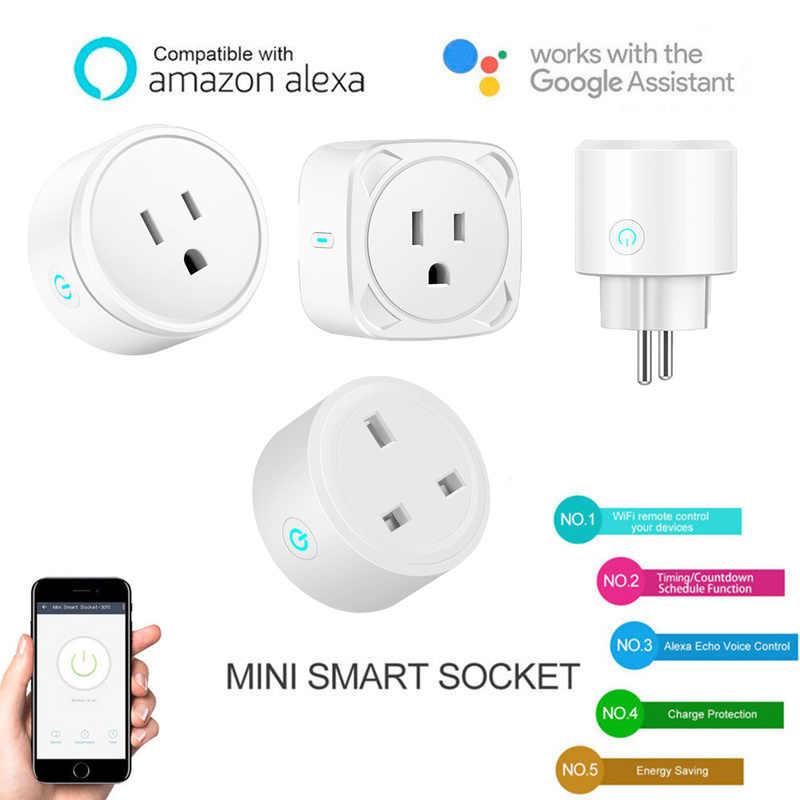 Prise de maison intelligente sans fil WIFI télécommande UK/US/EU prise en charge Alexa Google prise de courant prise intelligente puissance PK Sonoff