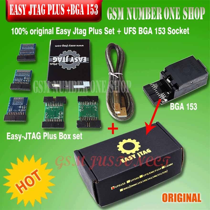 2019 100% original new z3x - Easy Jtag Plus Set + UFS BGA 153 Socket for Easy Jtag puls Box set(China)