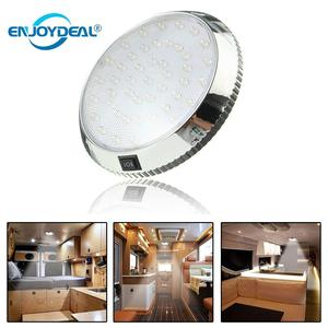 46LED Round Dome Light Ceiling Lamp DC 12V with Switch wall Sconce for Caravan Campervan Motorhome Boat Kitchen Living Room(China)
