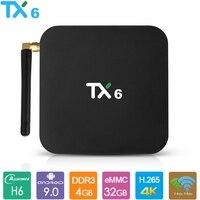 TX6 Android 9.0 TV Box Allwinner H6 Smart TV Box 4GB RAM 32GB 64GB 2.4G 5.8G Dual Wifi BT4.1 4K Media Player USD3.0 Set Top Box
