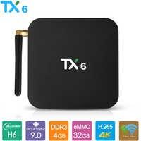 TX6 Android 9.0 TV Box Allwinner H6 Smart TV Box 4GB RAM 32GB 64GB 2.4G 5.8G double Wifi BT4.1 4K lecteur multimédia USD3.0 décodeur