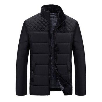 Warm Men's Jackets Black Parka Male Winter Jacket Casual Thick Winter Parks for Men Long Coat Men Clothes   Man L-4XL
