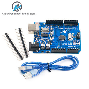 high quality One set UNO R3 CH340G+MEGA328P Chip 16Mhz For Arduino UNO R3 Development board + USB CABLE uno r3 ch340g mega328p smd chip 16mhz for arduino uno r3 development board usb cable atega328p one set