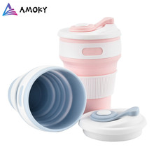 Portable Silicone Cup Folding Silicone Telescopic