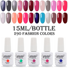 15ml Big Bottle Nail Gelpolish UV/LED Nail Gel Polish Soak Off Nail Polish Long Lasting UV Gel Nail Varnish Dry With LED Lamp electric nail polish shaker machine nail gel polish bottle shaking device portable gel polish varnish bottle shaking machine