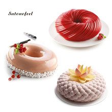 Donuts Shaped Silicone Mold Cake Mousse Mold Chocolate Jelly Molds Sugar Apple Shaped Dessert Baking Tray Cake Decorating Tool