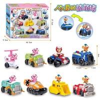 Warrior Cartoon Momo Pig Patrol Inertia Toy Car Douyin Toy Seagrass Pigskin Set