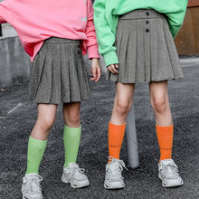 Girls Pleated Skirts Kids School Skirt Spring Autumn Solid Color Tutu Skirt Toddler Girl Dance Party Skirts Children Clothing girls pleated skirt solid princess party pleated school skirts high quality soft plaid skirt girl child petticoat for 3 12 years