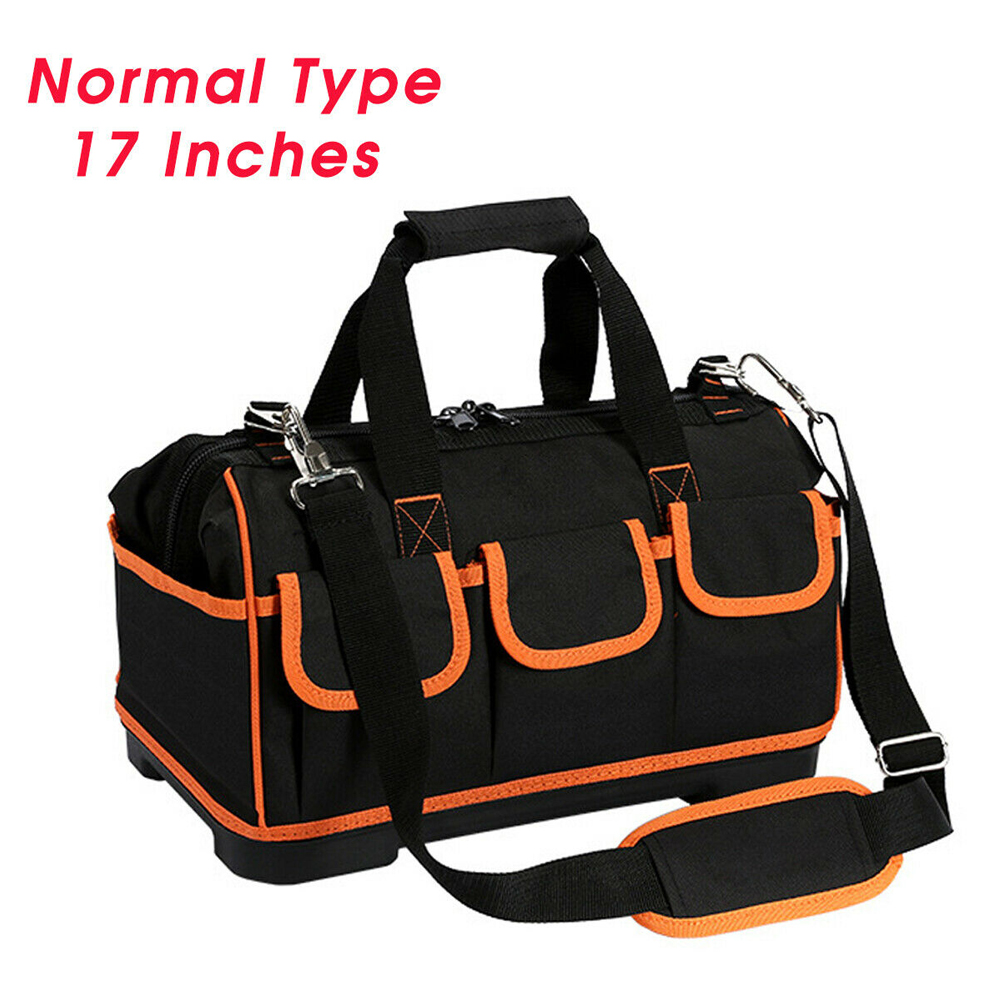 13/17inch Thicken Storage Organizer Wear Resistant Tool Bag Oxford Cloth Heavy Duty Large Capacity Handheld Shoulder Electrician