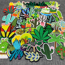 Iron-On-Patches Embroidery Badges Clothing-Stickers Clothes-Plants Appliques Stripes