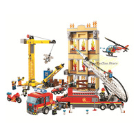 NEW Legoingly City Series 60216 The Fire Station City fire Rescue Team Model Building Block Brick Toy For Boy Birthday Gift