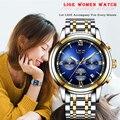 Neue LIGE Frauen Kleid Uhren Luxus Marke Damen Quarzuhr Edelstahl Band Casual Armband Armbanduhr Reloj Mujer + Box-in Damenuhren aus Uhren bei