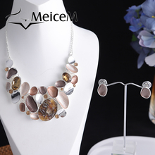 MeiceM Trendy Resin Geometry Statement Neck Chokers Necklaces Women